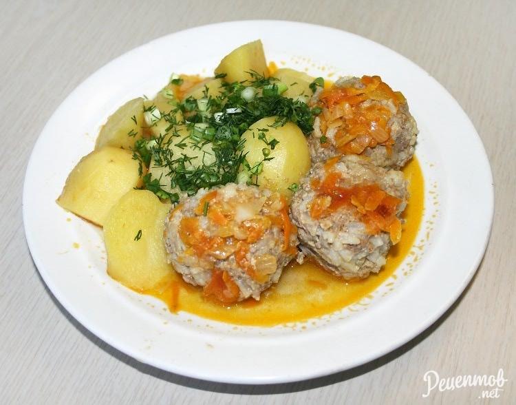 Фрикадельки с картошкой в мультиварке: рецепт с фото