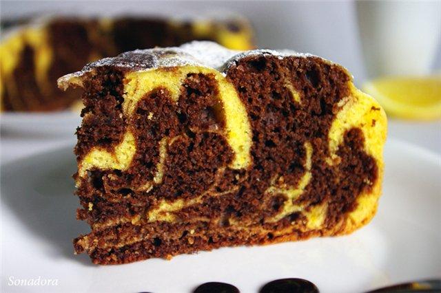 Шоколадно-тыквенный кекс в мультиварке: рецепт с фото