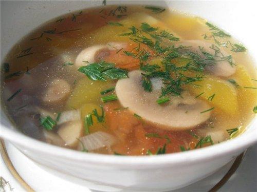 Постный суп с гречкой и грибами в мультиварке: рецепт с фото