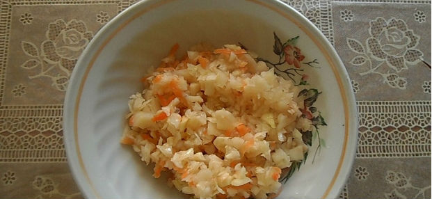 Каша из риса и пшена с квашеной капустой в мультиварке: рецепт с фото