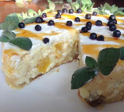 Запеканка из творога с грушей и манго в мультиварке: рецепт с фото