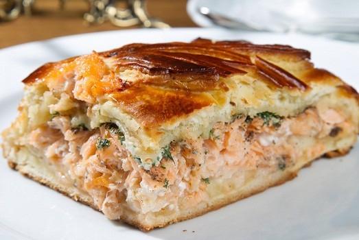 Пирог с рыбой и моцареллой в мультиварке: рецепт с фото