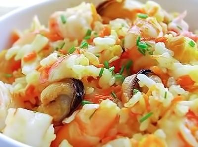 Морские деликатесы в мультиварке