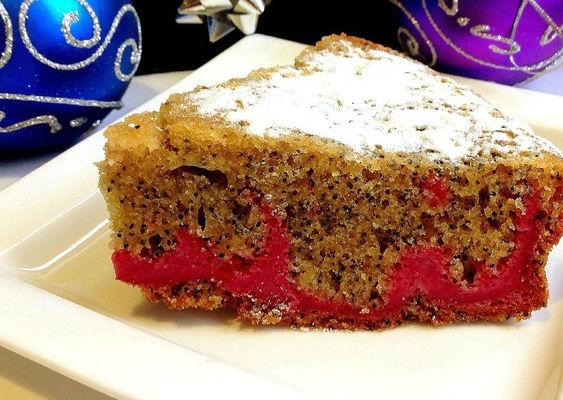 Маковый пирог с творогом в мультиварке