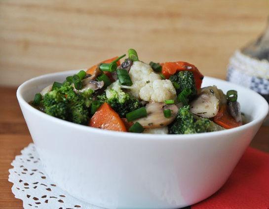 Гарнир из овощей с грибами в мультиварке: рецепт с фото