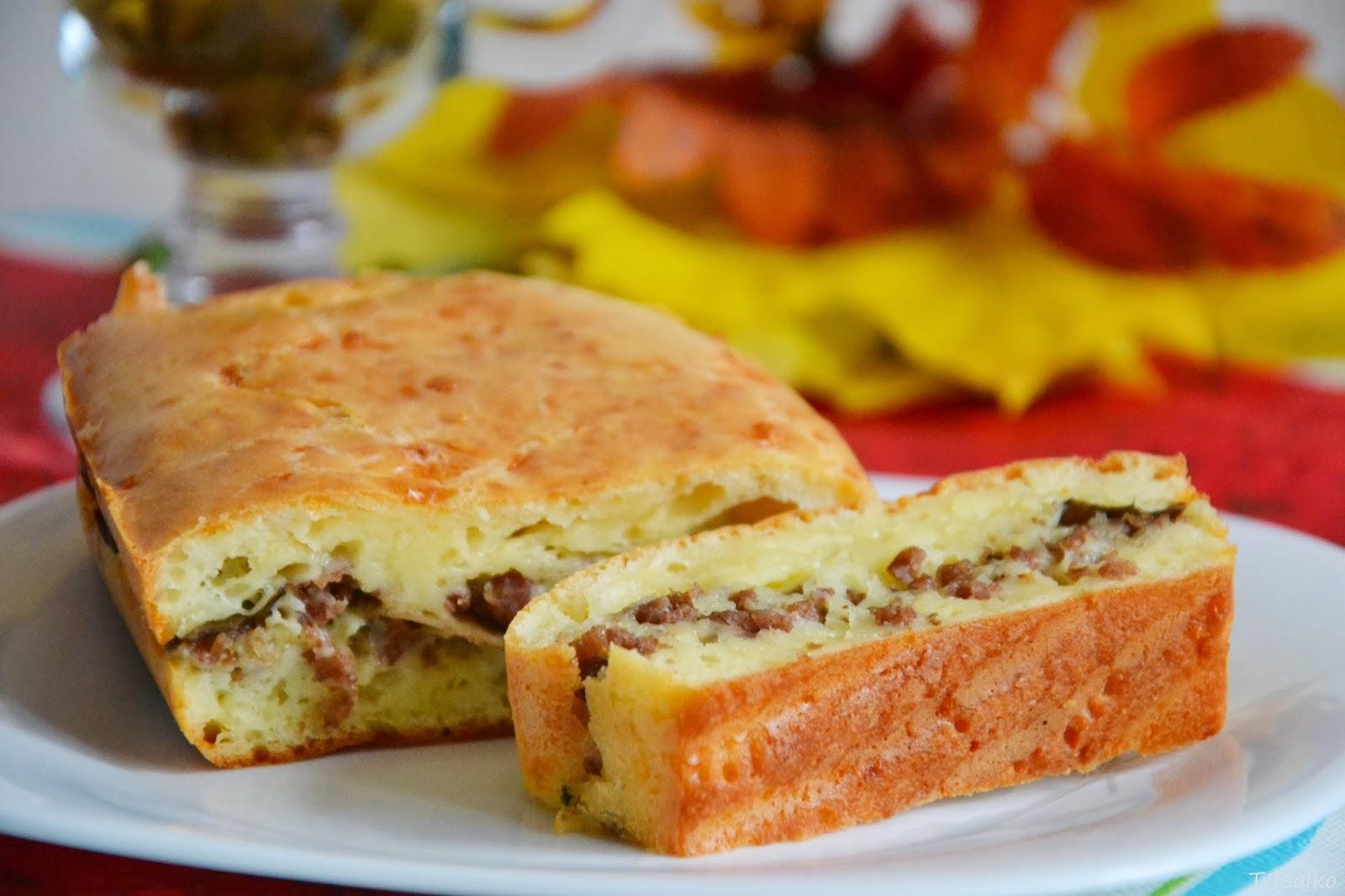 Картофельный пирог с мясом в мультиварке: рецепт с фото