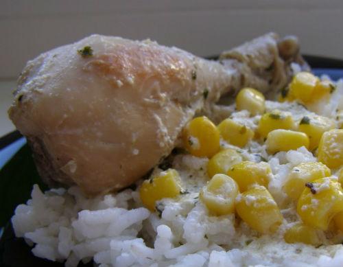 Курица тушеная в мультиварке с кукурузой в мультиварке: рецепт с фото