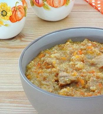 Утка с пшеничной кашей в мультиварке: рецепт с фото