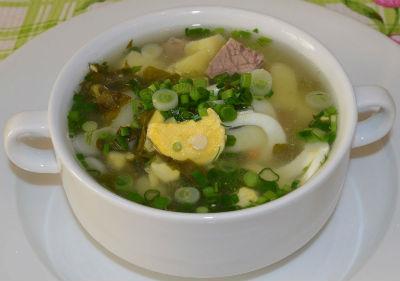 Зеленый борщ с крапивой в мультиварке: рецепт с фото