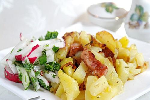 Картошка с ветчиной в мультиварке: рецепт с фото